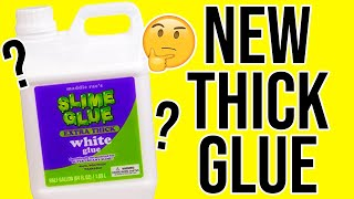 """TESTING NEW """"THICK GLUE"""" FOR SLIME!!!"""