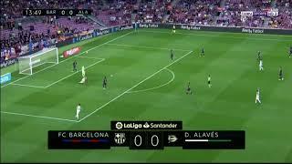 ملخص مباراة برشلونة والافيس 3 0   ابداع ميسى    تعليق رؤوف خليف HD   YouTube