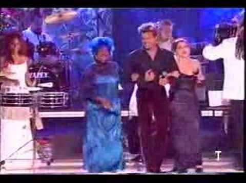 Ricky Martin Celia Cruz and Gloria Estefan