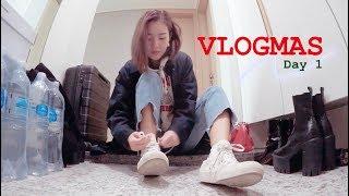 VLOGMAS DAY 1• KBS Radio, Korean Nail Salon, & Packing!