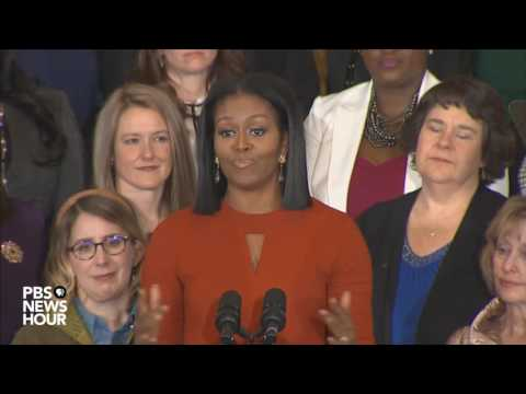 Watch first lady Michelle Obama s final White House speech