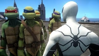 Spiderman VS Teenage Mutant Ninja Turtles - Future Foundation Spider-Man