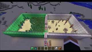 Minecraft - Iron Golems VS. Zombies