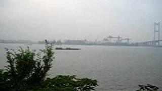 20090523 Shanghai - Jiangyyin City; China Fasten; Yantze River Video 3