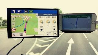 Garmin 61 vs Iphone 6 google maps satnav