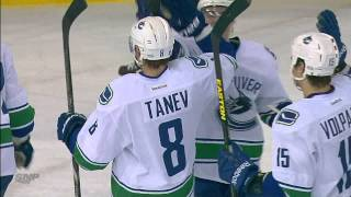 Chris Tanev First NHL Goal and Overtime Winner - Canucks at Oilers - 02.04.13 - HD