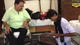 Master Nishad learning Santoor & Tabla with The Legend : Pt. R. K. Bose - Bose Music Institute