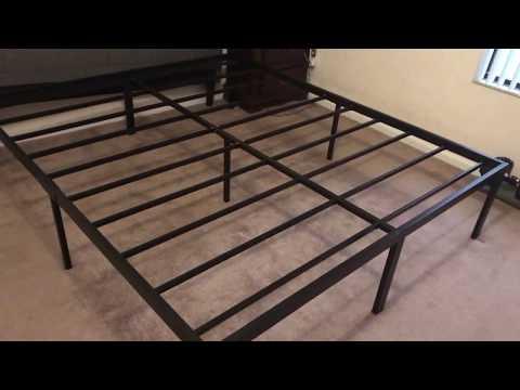 Xxx Mp4 SLEEPLACE Heavy Duty 18 Inch Steel Frame Slat Bed Frame 3gp Sex