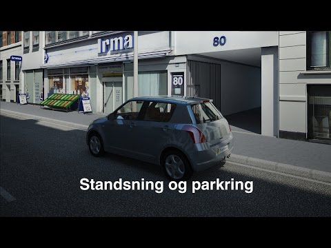 Parkeringsregler teori og kørsel i mørke (TRAFIKTESTEN.DK)
