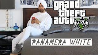 PANAMERA WHITE | DILJIT DOSANJH | GTA5 | PUNJABI SONGS