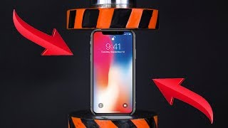 HYDRAULIC PRESS VS IPHONE X AND TOYS | The Crusher
