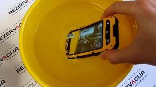 Самый популярный защищенный смартфон Land Rover A8 Plus Quad Core Видео обзор + краш тест