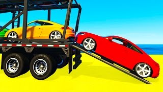 Download Fun SMALL Cars Transportation for Kids and Spiderman Cartoon w Colors for Children Nursery Rhymes 3Gp Mp4