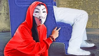 I'M CAPTURED BY A MYSTERIOUS MAN! Hacker Girl Trapped in Prison Escape Room at 3am - PZ4 Vlog