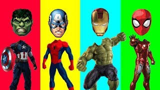 Wrong Bodies Of Superhero Avengers And Fun Dancing Superheroes Learn Colors For Kids