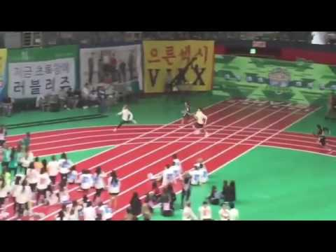 [FANCAM]160829 BTS 400M relay race @ISAC