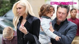 Gwen Stefani & Blake Shelton Arrive To Mother's Day Church Service Together With The Kids 5.13.18