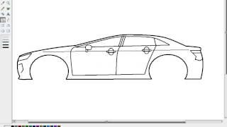 Desain mobil dengan aplikasi paint