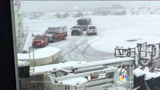 Delta Plane Skids Off Runway At LaGuardia Airport | NBC Nightly News