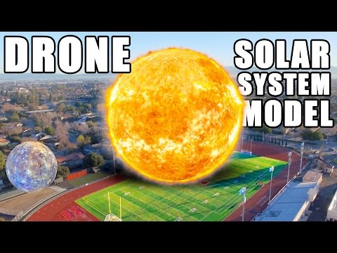 DRONE Solar System Model How far is Planet 9