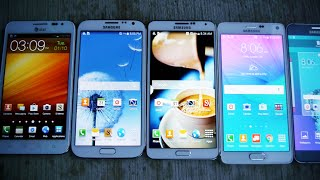 Samsung Galaxy Note 5 vs 4 vs 3 vs 2 vs 1 Drop Test!