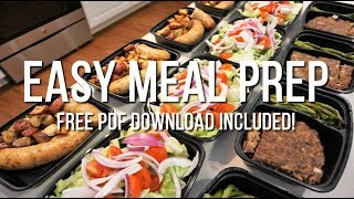 Easy Meal Prep - FREE PDF Download And Meal Plan Included!!