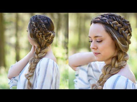Xxx Mp4 Double Dutch Side Braid DIY Back To School Hairstyle Cute Girls Hairstyles 3gp Sex