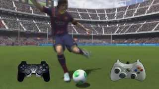 FIFA 14  jugadas (como hacer la bicicleta o levantar con el taco) Tutorial