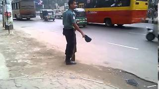 VIP is coming so Police is busy at Bangla Motor in Dhaka on 3 January 2015