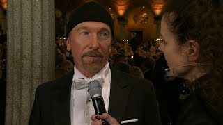 """I'm a medical science fan – some might say, a groupie."" U2's The Edge attends the Nobel Banquet"