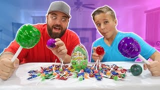Giant Extreme Sour Warheads Candy Suckers Challenge!!