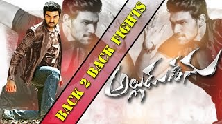 Alludu Seenu Back To Back Fights || Srinivas, Prakash Raj, Samantha