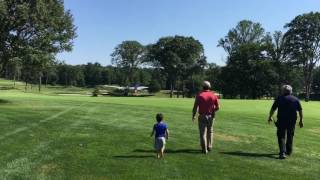Plane takes off on golf course at The Country Club of New Canaan