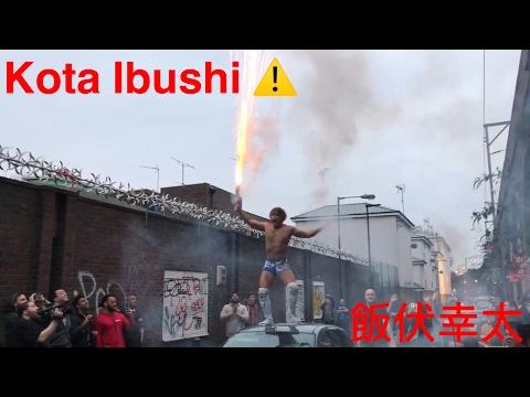 Kota Ibushi 飯伏幸太 being Kota Ibushi Xwa London fireworks