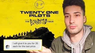 MESSING WITH BANDITO TOUR TICKET SCAMMERS (Twenty One Pilots Concert)
