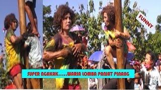 Lucu Terpingkal-Pingkal Waria Lomba Panjat Pinang - Transsexual to climb Pinang Tree Contest
