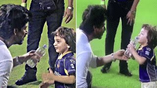 Shah Rukh Khan-AbRam CUTE IPL 2016 VIRAL VIDEO