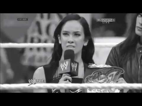 Brock Lesnar Returns Face to Face AJ Lee