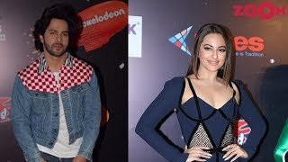 Varun Dhawan with denim jacket | Sonakshi Sinha with thigh-high slit gown & more | Style Today