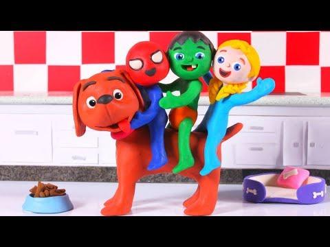 Xxx Mp4 THE LITTLE DOGGY GROW UP ❤ SUPERHERO PLAY DOH CARTOONS FOR KIDS 3gp Sex