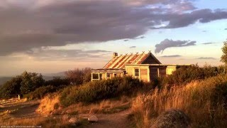 Craigs Hut Time Lapse Video - Storm, Sunset & Sunrise at Victoria High Country