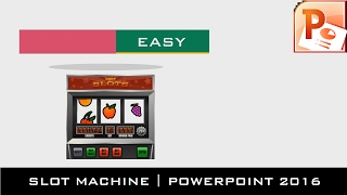 The Slot Machine Animation | Motion Graphics Tutorial in PowerPoint 2016 | The Teacher