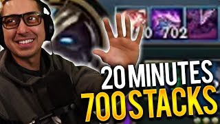 NASUS JUNGLE......700 STACKS AT 20 MINUTES | I ALMOST LOST MY MIND!!! - Trick2G