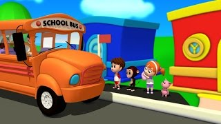 Wheels On The Bus | Nursery Rhymes Songs | Video For Kids And Children