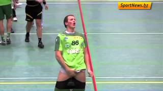 Handball Player Freaks Out After Opponent Kisses Him
