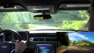 Lotus Chasing Camaro ZL1 On Mountain Road, Amazing Sound!