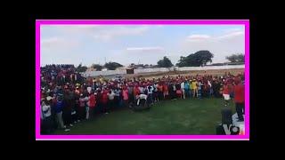 Breaking News   Happy MDC Alliance Members At Pelandaba Stadium in Gwanda