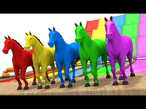 Xxx Mp4 Learn Colors With Horse Colors Learning Videos For Children Animation For Kids 3gp Sex