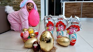 GOLDEN EGG! Easter Egg Hunt Toys Challenge For Kids Pretend Play | Toys AndMe