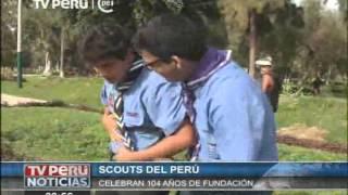 TV PERU SCOUTS CELEBRAN ANIVERSARIO N 104